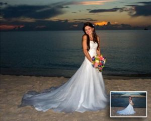 Wedding Portrait Oil Painting Singapore - sunset bride