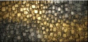 Knife palette Bronze squares oil paining