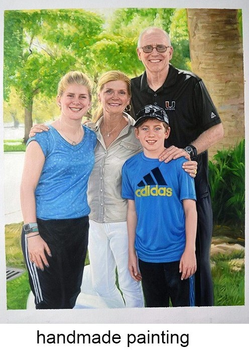 photo into oil painting Hand painted commission family portrait painting custom 2 portrait art from digital images